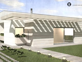 ATELIER OPEN ® - Arquitetura e Engenharia Landhaus Holz Holznachbildung
