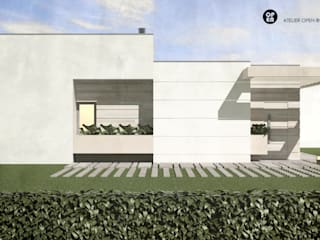 ATELIER OPEN ® - Arquitetura e Engenharia Fertighaus Sperrholz Weiß