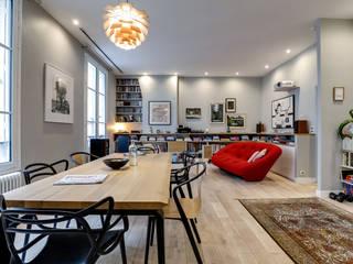 St Vincent 4eme Mur-Intérieurs Salon moderne Blanc