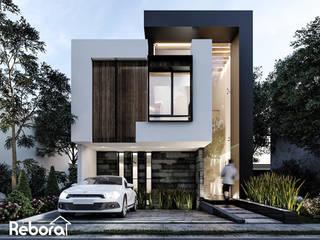 Una nueva casa moderna de diseño único e innovadores detalles. Casas modernas de Rebora Arquitectos Moderno