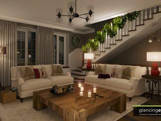 Ruang Keluarga Modern Oleh Glancing EYE - Asesoramiento y decoración en diseños 3D Modern