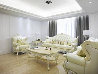 澄心典藏 现代客厅設計點子、靈感 & 圖片 根據 古迪室內設計 現代風