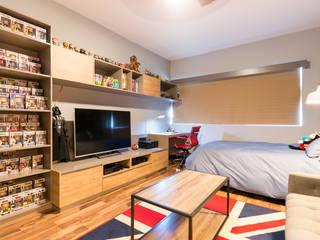 Industrial style nursery/kids room by ESTUDIO TANGUMA Industrial