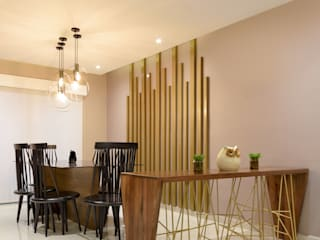 Industrial style dining room by ESTUDIO TANGUMA Industrial