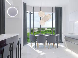 Студия дизайна интерьера квартир в Киеве belik.ua Minimalist dining room