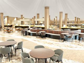 3D Rendereing Interior Restaurant Oleh Northsky Studio