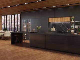 Projeto a distancia Loft New York City Cozinhas modernas por Renata Monteiro Arquitetura e Interiores Moderno