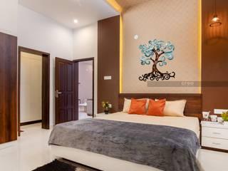 Creo Homes Pvt Ltd Camera da letto in stile asiatico