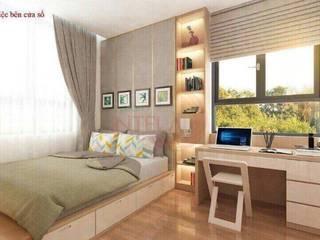 Căn hộ Smarthome Sài Gòn Intela 13E Nguyễn Văn Linh Phòng ngủ phong cách Bắc Âu bởi Công ty Đất Xanh Nam Bộ Bắc Âu