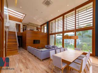 Interiores Casa de Praia Salas de estar rústicas por MEI Arquitetura e Interiores Rústico
