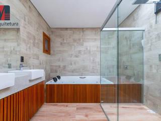 Interiores Casa de Praia Banheiros rústicos por MEI Arquitetura e Interiores Rústico