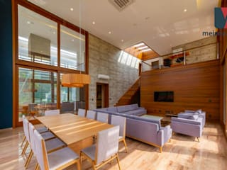 Interiores Casa de Praia Salas de jantar rústicas por MEI Arquitetura e Interiores Rústico