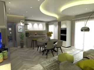Progetto appartamento per Arredamento Moderno Napoli di Meka Arredamenti Moderno