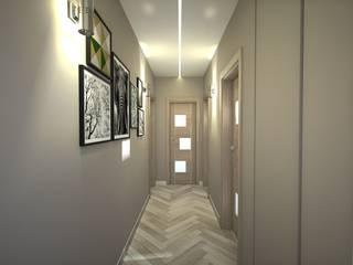 Progetto appartamento per Arredamento Moderno Napoli Ingresso, Corridoio & Scale in stile moderno di Meka Arredamenti Moderno