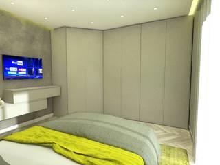 Progetto appartamento per Arredamento Moderno Napoli Camera da letto moderna di Meka Arredamenti Moderno