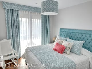 Manzanodecora Windows & doors Curtains & drapes Blue