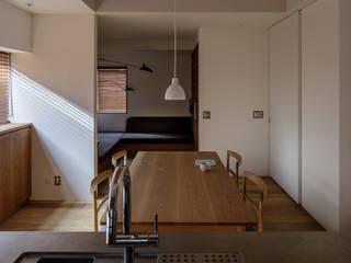南長崎の家/House in Minaminagasaki モダンデザインの リビング の 水野純也建築設計事務所 モダン