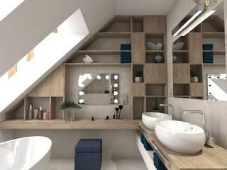 Architect Karolina Radoń- small spaces Nowoczesna łazienka od Karolina Radoń Design Nowoczesny