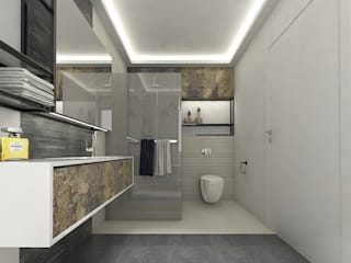 INTERIOR DESIGN- Karolina Radoń Nowoczesna łazienka od Karolina Radoń Design Nowoczesny