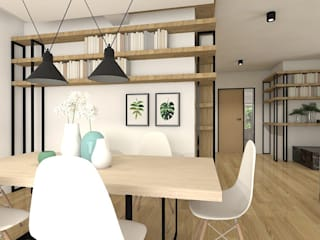 Interiors- Karolina Radoń Skandynawska jadalnia od Karolina Radoń Design Skandynawski