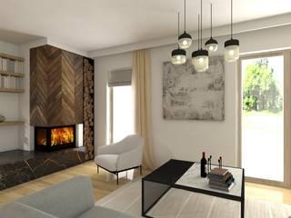 Interiors- Karolina Radoń Skandynawski salon od Karolina Radoń Design Skandynawski