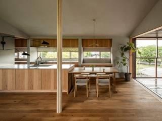 野洲の家 モダンデザインの ダイニング の HEARTH ARCHITECTS/ハース建築設計事務所 モダン