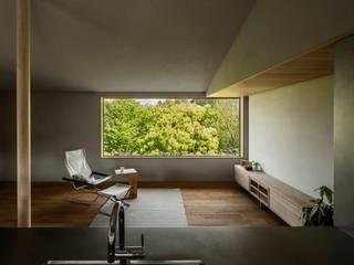 野洲の家 モダンデザインの リビング の HEARTH ARCHITECTS/ハース建築設計事務所 モダン