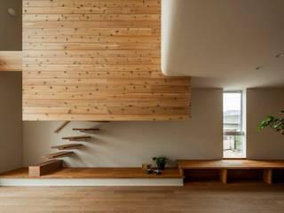 虫生野の家 モダンデザインの リビング の HEARTH ARCHITECTS/ハース建築設計事務所 モダン