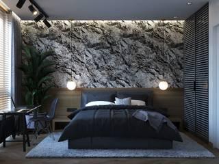 Дизайн-проект квартиры в темных тонах от Maryna Veseiko Модерн