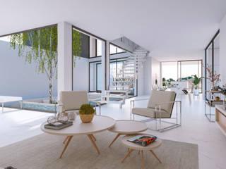 Pasillos, vestíbulos y escaleras de estilo minimalista de Pacheco & Asociados Minimalista