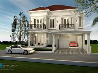 Desain Rumah Hunian 2 Lantai dengan Gaya Klasik Modern Oleh Griya Lestari Arsitektur Klasik