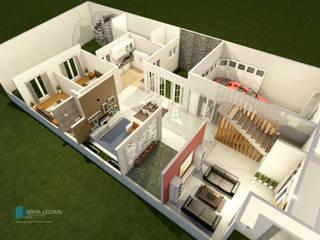 Desain Rumah Hunian 2 Lantai dengan Gaya Klasik Modern Ruang Keluarga Klasik Oleh Griya Lestari Arsitektur Klasik