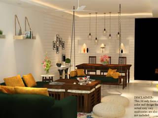 Minimalist living room by Matter Of Space Pvt. Ltd. Minimalist