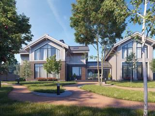 """Проект двухэтажного дома с банным комплексом """"Сосново"""" Дома в классическом стиле от СК Медный Всадник Классический"""