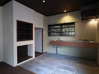 Cocinas de estilo moderno de 早田雄次郎建築設計事務所/Yujiro Hayata Architect & Associates Moderno