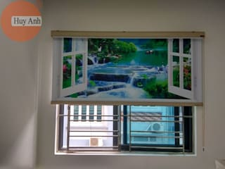 Lắp rèm cuốn tranh 3d ở kđt an bình city bởi Rèm Huy Anh