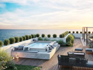 Aquazzura Piscine Moderner Balkon, Veranda & Terrasse