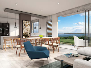 Modern Living Room by Ideando Espacios Modern