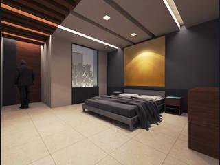 Villa Teresa Dormitorios modernos de Geometrica Arquitectura Moderno