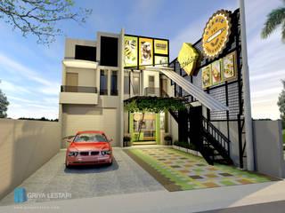 Desain Outlet Ghanis Rumah Gaya Industrial Oleh Griya Lestari Arsitektur Industrial