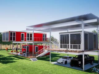 Minimalist house by รับเขียนแบบบ้าน&ออกแบบบ้าน Minimalist