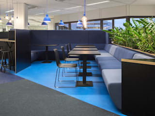 ÈMCÉ interior architecture Modern offices & stores Plywood Blue