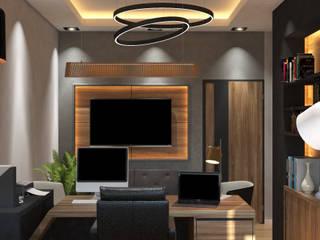 Culha Office Minimalist Çalışma Odası MAK Concept Mimarlık Minimalist