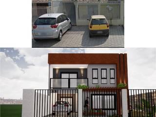 Reforma e Ampliação de Casa Popular Danilo Rodrigues Arquitetura Casas geminadas