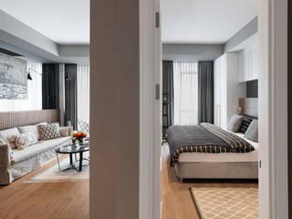 Mandarins Esra Kazmirci Mimarlik Yatak OdasıYataklar & Yatak Başları Ahşap Bej
