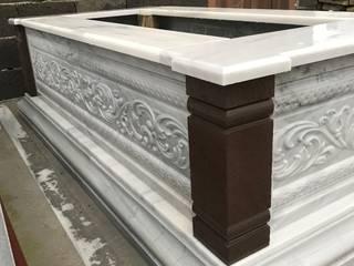 3D Rölyef işlemeli mermer mezar Taşcenter Acarlıoğlu Doğal Taş Dekorasyon SanatSanat Eserleri Mermer Beyaz