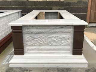 3D Rölyef işlemeli mermer mezar Taşcenter Acarlıoğlu Doğal Taş Dekorasyon