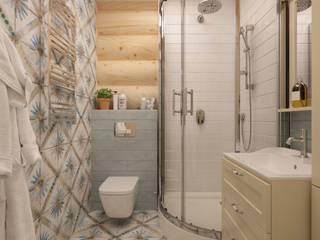 Дом в Аверино Ванная комната в эклектичном стиле от Ольга Рыженко Эклектичный