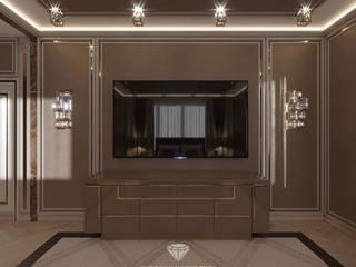Дизайн спальни в таунхаусе Спальня в классическом стиле от Студия дизайна интерьера Руслана и Марии Грин Классический