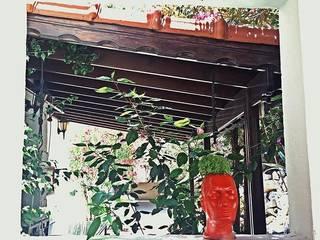 İç mekan saksı Love is Organic BahçeBitki & Çiçekler Beton Kırmızı